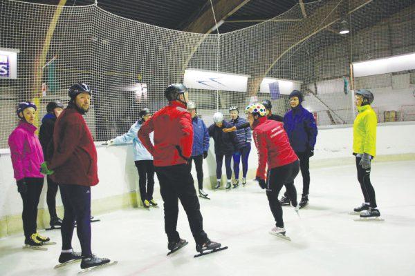 Inlooplessen voor schaatsen op noren