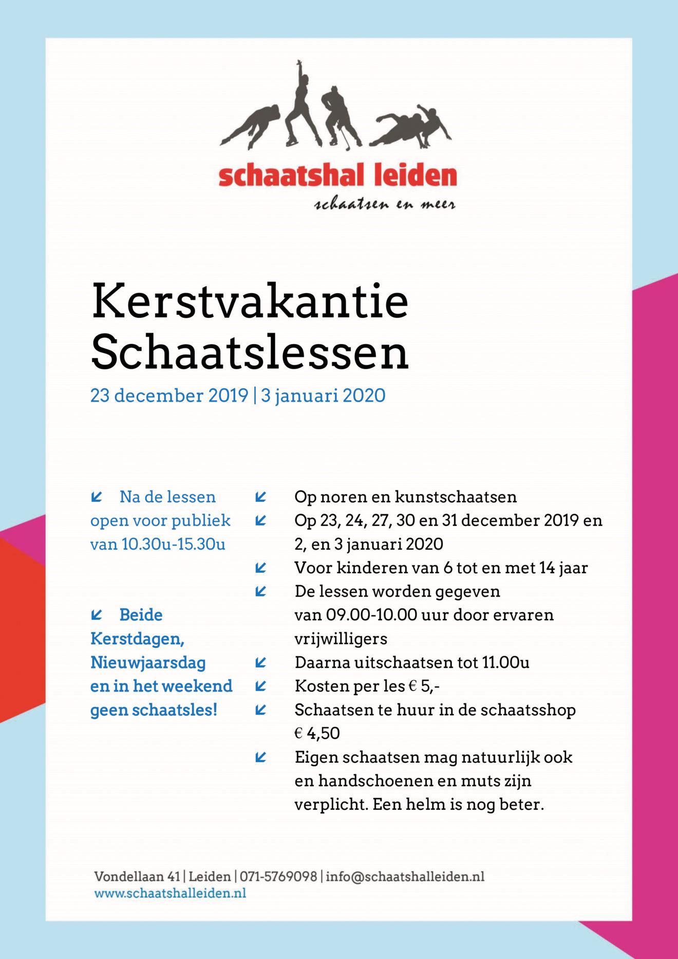 Poster_Kerstvakantie 2019-2020 SchaatshalLeiden