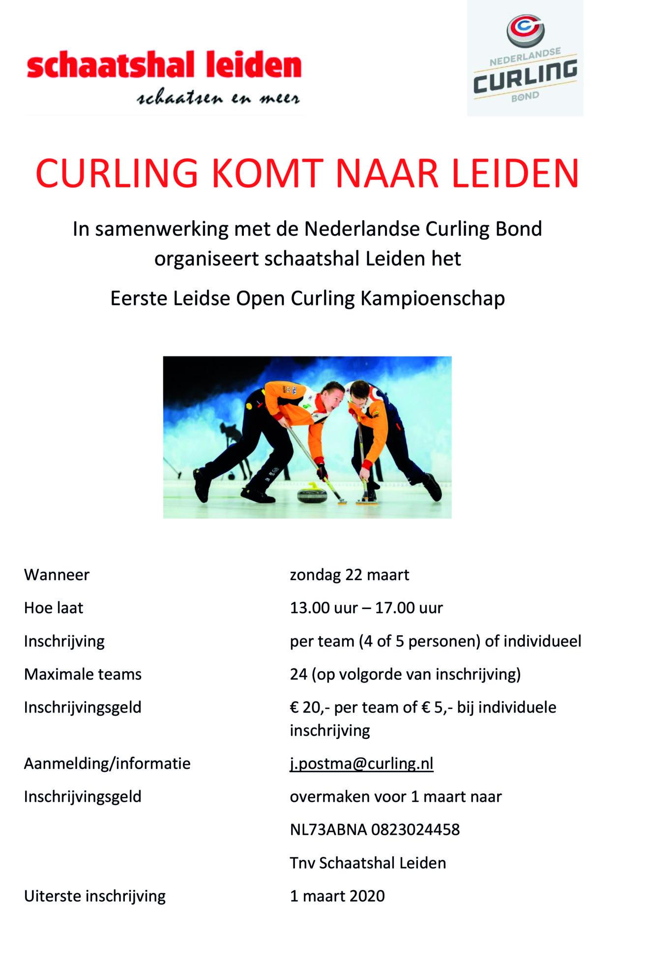Poster Eerste Leids Open Curling Kampioenschap